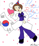 Happy Birthday Im Yong Soo (Korea from Hetalia) by MirabelleLeaf31