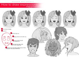 How to Draw Expressions - Happiness by wysoka