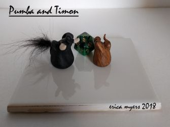 Pumba And Timon Miniatures by pucapup