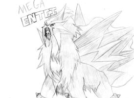 Mega Entei by tbunty52094