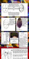 How to draw pretty anime hair by tutorial