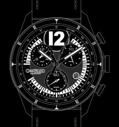 Christopher Ward C70 3527 GT - B and W by jamesaevans