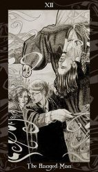 HP Tarot - 12 The Hanged Man by Ellygator