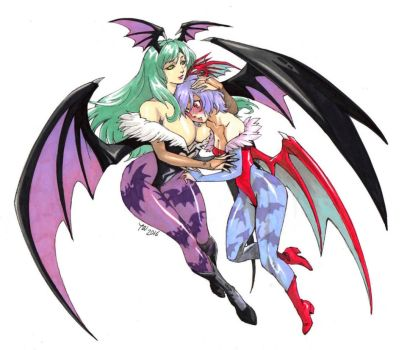 Morrigan and Lilith by TheHedgehogSong