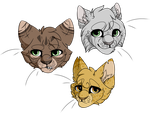 river kitties by StripedPaws