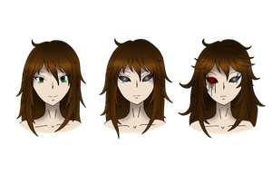 Creepypasta: Three faces of Nancy Gale/ Nemesis by darkangel6021