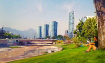 Santiago cityscape by RivenRoth740