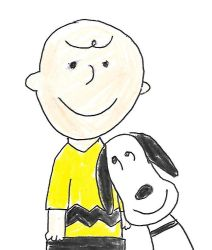 Lean on me, Snoopy by dth1971