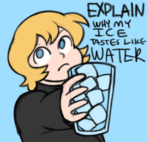 fellas is it gay to drink water?? by densen1844
