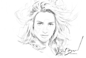 Kate Winslet Sketch by DieselBarracuda