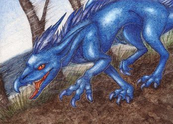 Gryphlizard ACEO by lynxfang-art