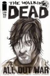 Daryl Dixon sketch cover by nathanobrien