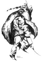 CONAN IN THE SNOW by benitogallego