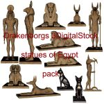 Statues of Egypt pack by 3DigitalStock