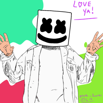 Marshmello Fan Art by ThatPan