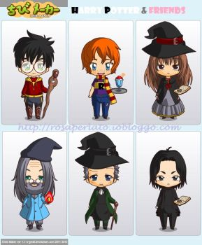 Harry Potter Chibi Characters by FrancescaROTG