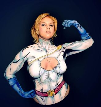 Powergirl bodypaint I by Adnarimification