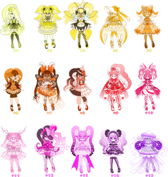 HUEVEMBER Inkling Adopts - $10 Paypal - Set 1 by Ghiraham-Sandwich