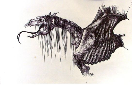 Thestral by fuckingPIG