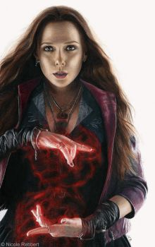 Scarlet Witch (drawing) by Quelchii