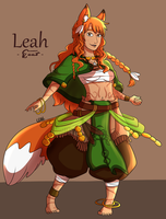 Leah (new reference) by LeahFoxDen