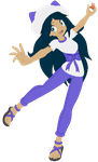 Trainer Janel pokemon Moon by VeronicaPrower