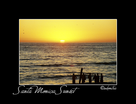 Santa Monica Sunset by mags253