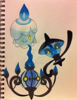 Litwik Lampent and Chandelure