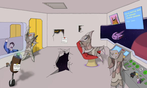 FTL: A normal day for a Lanius crew by MindControlCookie