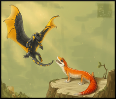 [WoC] Charmander and Sirli by BUGHS-22