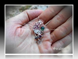 'Witches hour' handmade sterling silver pendant by seralune