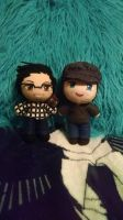 Mark and Jack Plushies Made By ThePlushieLady! by SylestiaMochheart