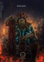 Mortal Kombat X-Kotal Kahn  War God Variation by Grapiqkad