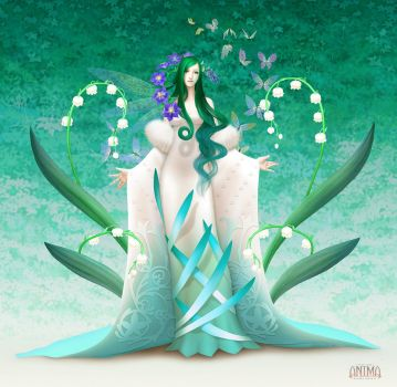 Anima: A goddess of nature by Wen-M