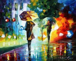 Dreams Of The Rain by Leonid Afremov by Leonidafremov