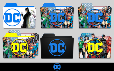 New DC Logo Folder Icon Pack by MovieIconMan