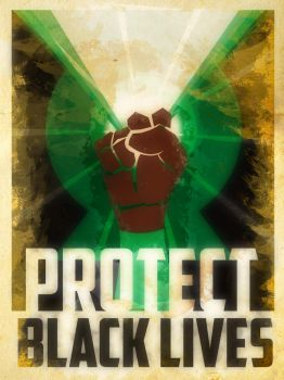 Heroes Protect - Green Lantern - Black Lives by KerrithJohnson