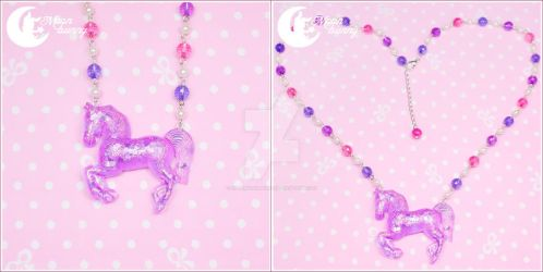 Dreamy carousel horse Necklace 2 by CuteMoonbunny