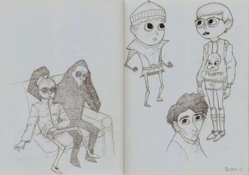 Sketches 6 by caracolescente