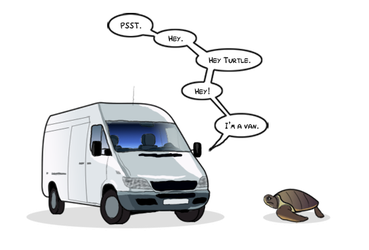 TRADE - Van Talking to a Turtle by Mr-Page