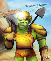 Orc-miner from Donbass by W-O-T-A-N