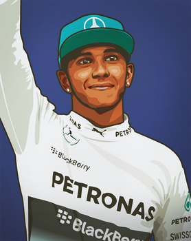 Lewis Hamilton by LyriquidPerfection