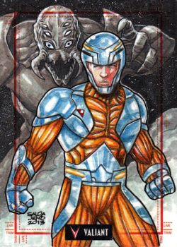 Valiant -  XO MANOWAR Sketchcard by JASONS21