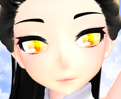 MMD Sunset Eyes tex by StrikingHope