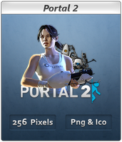 Portal 2 - Chell - Icon by Crussong