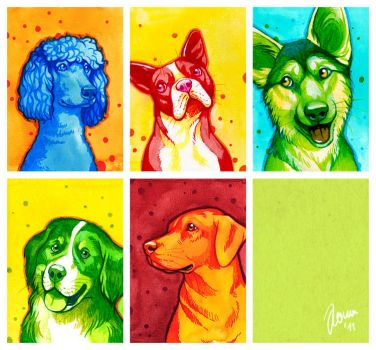 Colorful Dogs by Nimrais