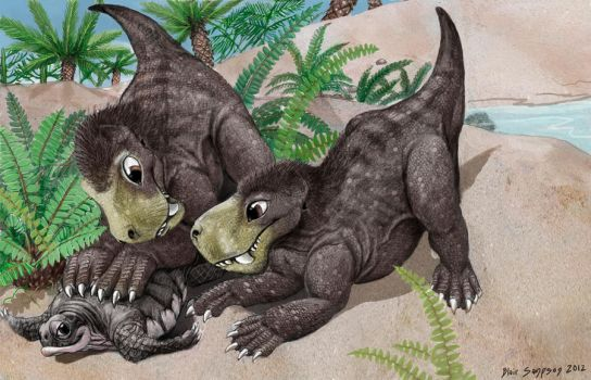 Paleo Buddies 3, Gorgonopsid puppies by Psithyrus