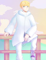 Ryo's coat is large. by Ferretser