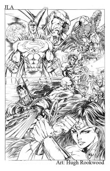 JLA - Pencils by Chozenstudios