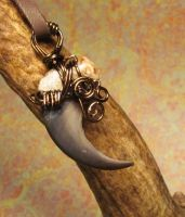 Bear in the Mist Claw Pendant by MorRokko